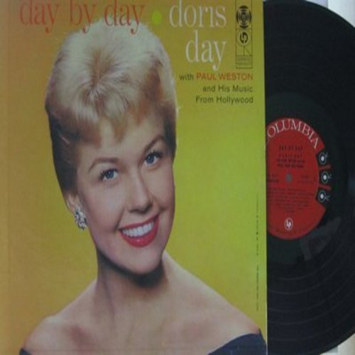 Day, Doris - Day By Day: Gone With The Wind, Autumn Leaves, I Remember You, There Will Never Be Another You (vinyl MONO LP record, red label/6 eyes first issue) - EX8/VG7 - LP Records