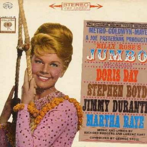 Day, Doris, Jimmy Durante, Martha Raye - Jumbo: Original Motion Picture Sound Track (vinyl STEREO LP record, gate-fold cover) - EX8/EX8 - LP Records