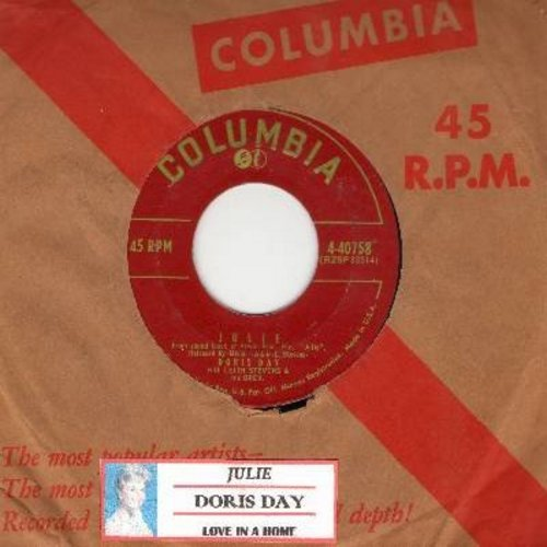 Day, Doris - Julie/Love In A Home (with Columbia company sleeve) - EX8/ - 45 rpm Records