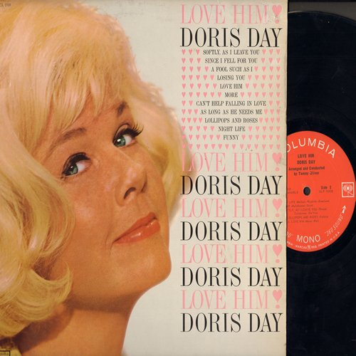 Day, Doris - Love Him: Softly As I Leave You, More, Funny, Can't Help Falling In Love (vinyl MONO LP record) - EX8/EX8 - LP Records