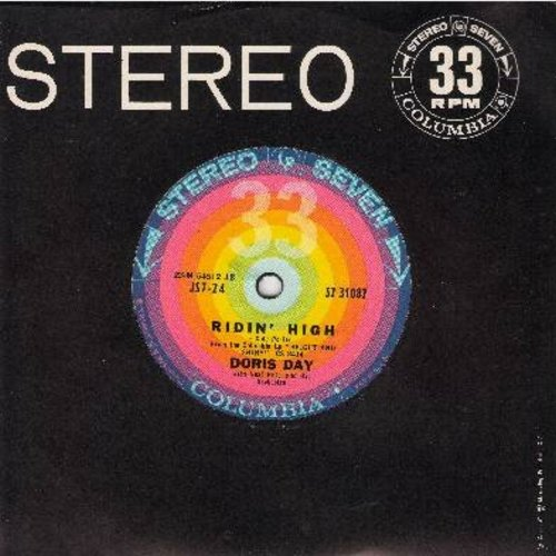 Day, Doris - Ridin' High/On The Sunny Side Of The Street (RARE 7 inch 33rpm STEREO record, small spindle hole, with Columbia company sleeve) - NM9/ - 45 rpm Records