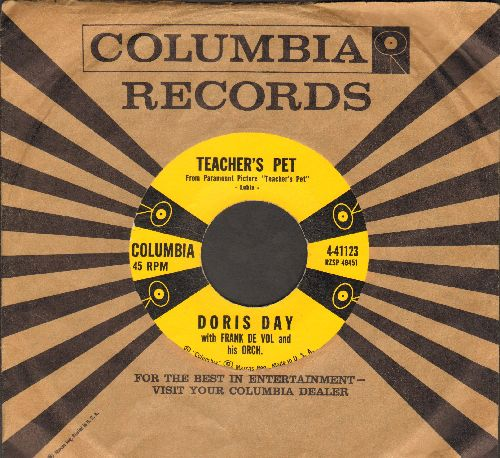 Day, Doris - Teacher's Pet/A Very Precious Love (MINT condition with vintage Columbia company sleeve) - M10/ - 45 rpm Records