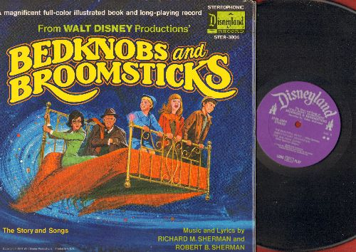 Disney - Bedknobs And Broomsticks - Music and Lyrics by Robert M. Sherman & Robert B. Sherman (vinyl STEREO LP record, gate-fold cover with illustrated story pages) - NM9/EX8 - LP Records