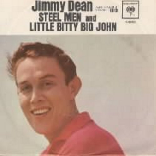 Dean, Jimmy - Little Bitty Big John/Steel Men (with picture sleeve) - NM9/VG7 - 45 rpm Records