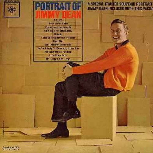 Dean, Jimmy - Portrait Of Jimmy Dean: P.T. 109, Basin Street Blues, Little Black Book, Old Pappy's New Banjo, The Darktown Poker Club (vinyl MONO LP record) - NM9/EX8 - LP Records