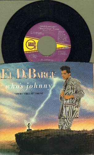DeBarge - Who's Johnny (Short Circuit Theme)/Love In A Special Way (with picture sleeve) - NM9/NM9 - 45 rpm Records