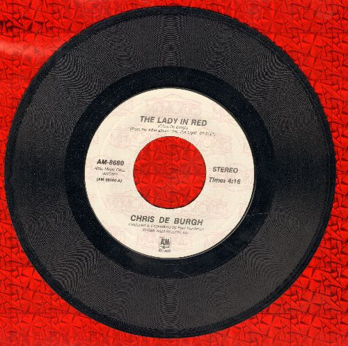 De Burgh, Chris - The Lady In Red (SLOW-DANCE FAVORITE!)/Fatal Hesitation (double-hit re-issue) - VG7/ - 45 rpm Records