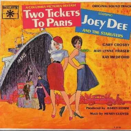 Dee, Joey & The Starliters - Two Tickets To Paris - Original Motion Picture Sound Track featuring the hit -What Kind Of Love Is This- (vinyl MONO LP record) - NM9/EX8 - LP Records
