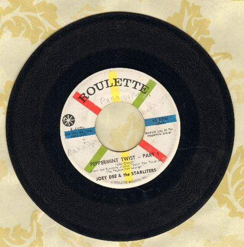 Dee, Joey & The Starliters - Peppermint Twist (Parts 1+2) (minor wol) - VG7/ - 45 rpm Records