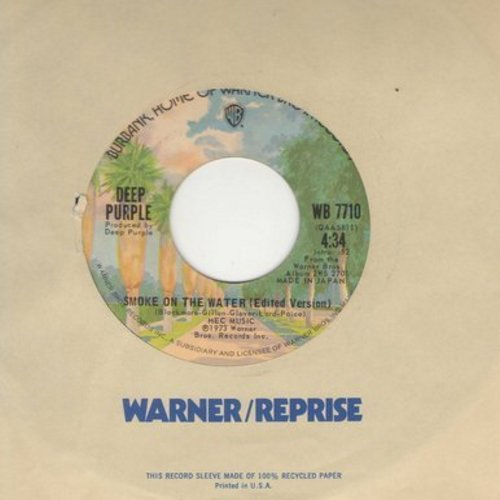 Deep Purple - Smoke On The Water (4:34 minutes version + 3:48 minutes version) - EX8/ - 45 rpm Records