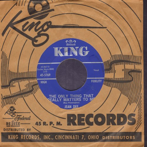 Dee, Jean - The Only Thing That Really Matters To Me/Dim The Lights (with vintage King company sleeve) - NM9/ - 45 rpm Records