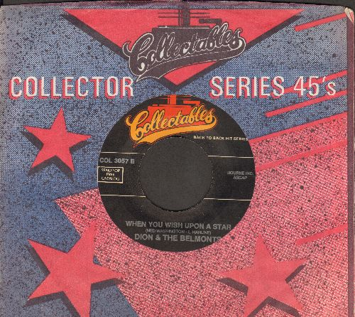 Dion & The Belmonts - When You Wish Upon A Star/That's My Desire (double-hit re-issue with Collectables company sleeve) - NM9/ - 45 rpm Records