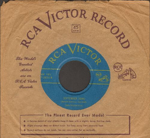 Delta Rhythm Boys - September Song/Dry Bones (with vintage RCA company sleeve) - NM9/ - 45 rpm Records