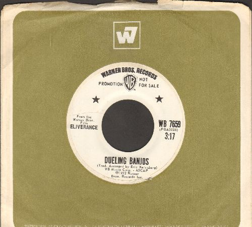 Weissberg, Eric - Dueling Banjos (from film -Deliverance-)/End Of A Dream (DJ advance pressing with Warner Brothers company sleeve) - NM9/ - 45 rpm Records