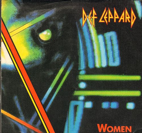 Def Leppard - Women (6 1/2 minute LIVE version)/Rocket (Lunar Mix) (with picture sleeve) - NM9/EX8 - 45 rpm Records
