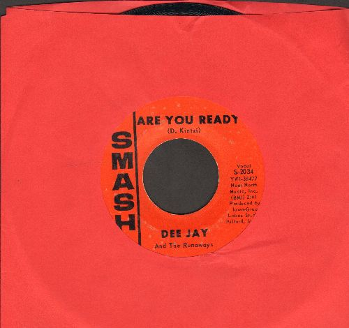 Dee Jay & The Runaways - Are You Ready (FANTASTIC Bubblegum Sound!)/Peter Rabbit  - EX8/ - 45 rpm Records