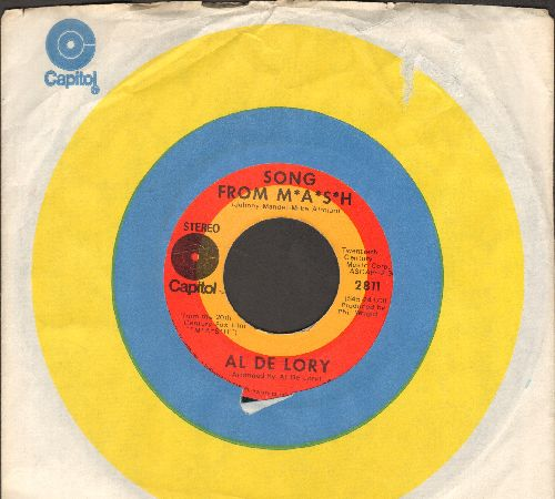 De Lory, Al - Song From M*A*S*H*/Feeling Of Love (with Capitol company sleeve) - EX8/ - 45 rpm Records