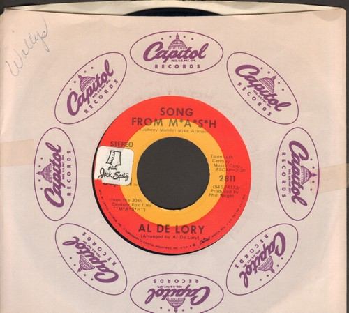 De Lory, Al - Song From M*A*S*H*/Feeling Of Love (sol) - EX8/ - 45 rpm Records