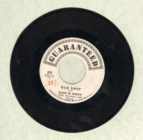 De Marco, Ralph - Old Shep/More Than Riches (wol, sol) - VG7/ - 45 rpm Records