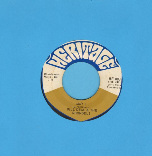 Deal, Bill & The Rhondels - May I/Day By Day My Love Grows Stronger - VG6/ - 45 rpm Records
