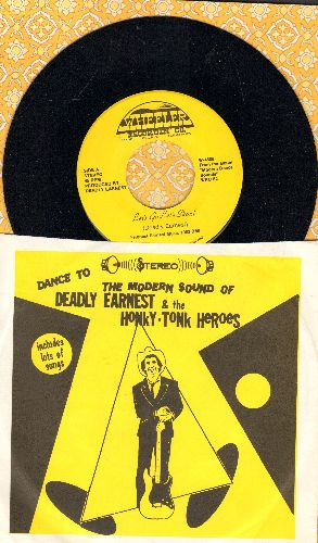Deadly Earnest & The Honky Tonk Heroes - Let's Go Let's Skoal/Rock It Billy (RARE Cleveland Novelty 2-sider with picture sleeve!) - NM9/NM9 - 45 rpm Records