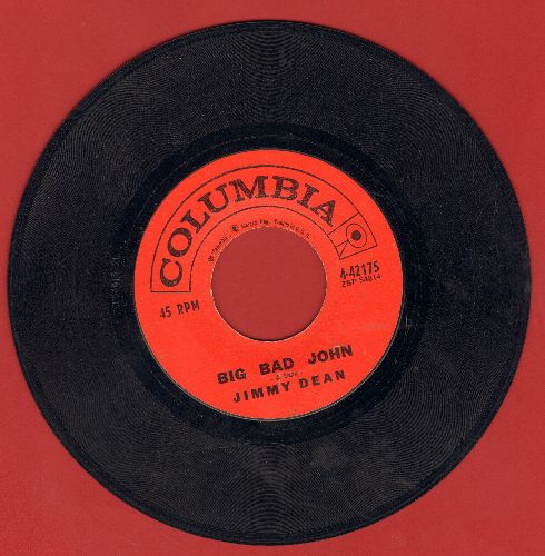 Dean, Jimmy - Big Bad John/I Won't Go Huntin' With You Jake  - VG7/ - 45 rpm Records