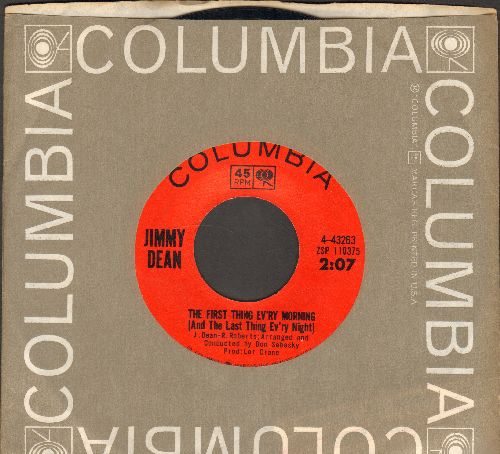 Dean, Jimmy - The First Thing Ev'ry Morning (And The Last Thing Ev'ry Night)/Awkward Situation (with original company sleeve) - EX8/ - 45 rpm Records