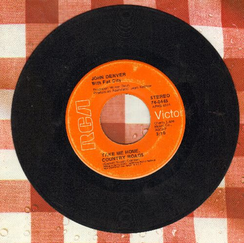 Denver, John - Take Me Home, Country Roads/Poems, Prayers & Promises  - VG6/ - 45 rpm Records