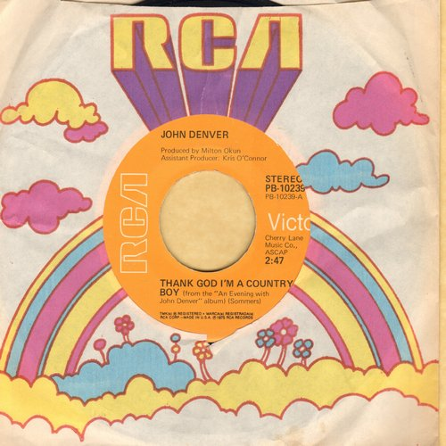 Denver, John - Thank God I'm A Country Boy/My Sweet Lady - VG7/ - 45 rpm Records