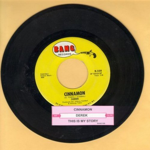Derek - Cinnamon/This Is My Story  - NM9/ - 45 rpm Records
