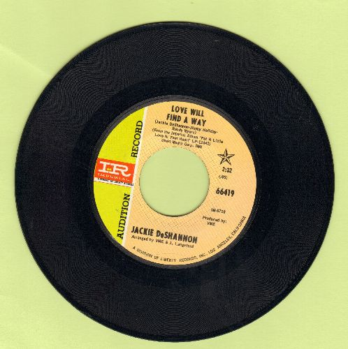 DeShannon, Jackie - Love Will Find A Way/I Let Go Completely (DJ advance pressing) - NM9/ - 45 rpm Records