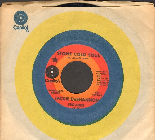 DeShannon, Jackie - Stone Cold Soul (double-A-sided DJ advance pressing with Capitol company sleeve) - NM9/ - 45 rpm Records