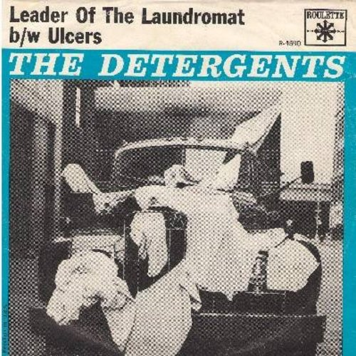 Detergents - Leader Of The Laundromat/Ulcers (with picture sleeve) - EX8/VG7 - 45 rpm Records
