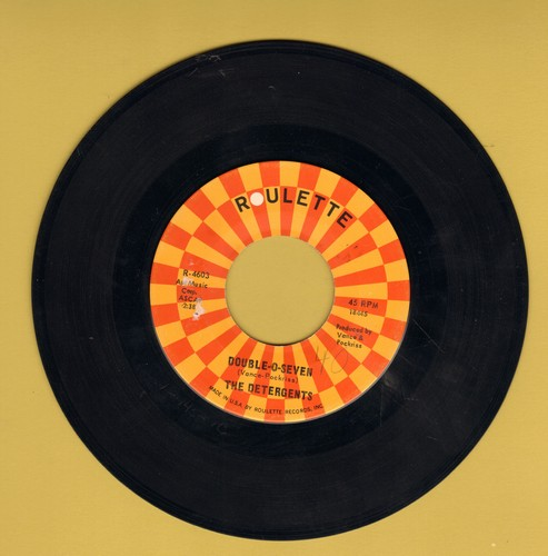 Detergents - Double-O-Seven/The Blue Kangaroo (with Roulette company sleeve, minor wol) - EX8/ - 45 rpm Records