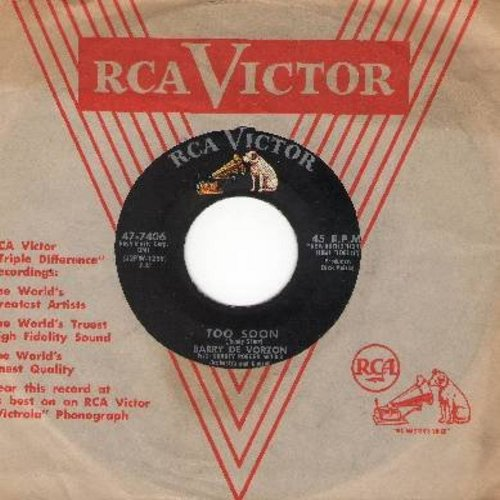 De Vorzon, Barry - Too Soon/Honey Bunny (with vintage RCA company sleeve) - VG7/ - 45 rpm Records