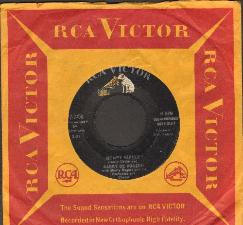 De Vorzon, Barry - Too Soon/Honey Bunny (with vintage RCA company sleeve) - EX8/ - 45 rpm Records