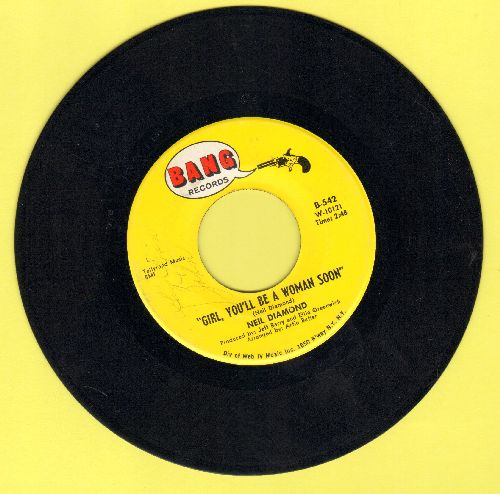 Diamond, Neil - Girl, You'll Be A Woman Soon/You'll Forget - EX8/ - 45 rpm Records