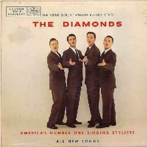 Diamonds - The Diamonds - America's Number One Singing Stylists: One And Only, Girl Of Mine, Zip Zip, Cool Cool Baby, My Dog Likes Your Dog, Honey Bird, You Are The Limit (vinyl MONO LP record, 1958 first issue) - EX8/EX8 - LP Records