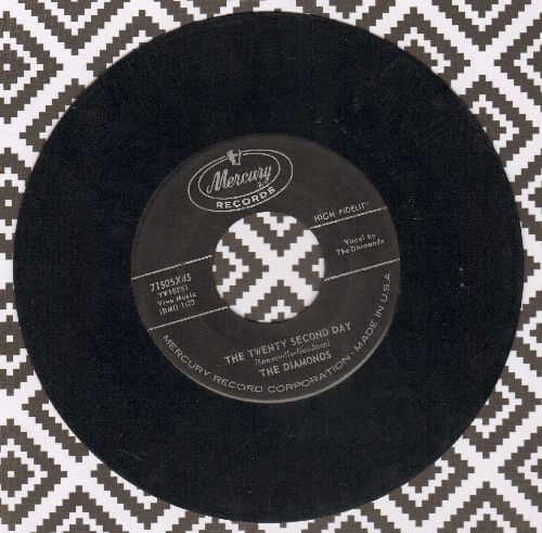 Diamonds - The Twenty Second Day/Young In Years  - VG7/ - 45 rpm Records