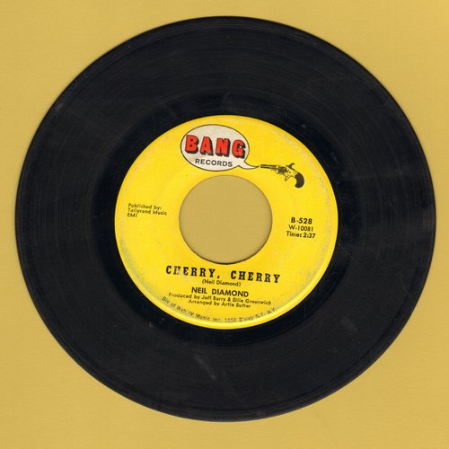 Diamond, Neil - Cherry, Cherry (FANTASTIC early Neil Diamond Party Hit!)/I'll Come Running - EX8/ - 45 rpm Records