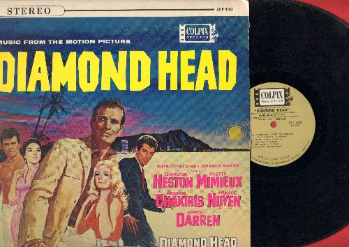 Diamond Head - Diamond Head - Original Motion Picture Sound Track featuring Theme Song by James Darren (vinyl LP record, RARE STEREO pressing) - EX8/VG7 - LP Records