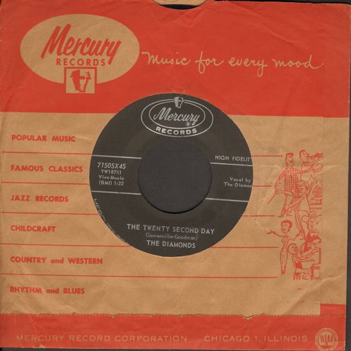 Diamonds - The Twenty Second Day/Young In Years (with vintage Mercury company sleeve) - EX8/ - 45 rpm Records