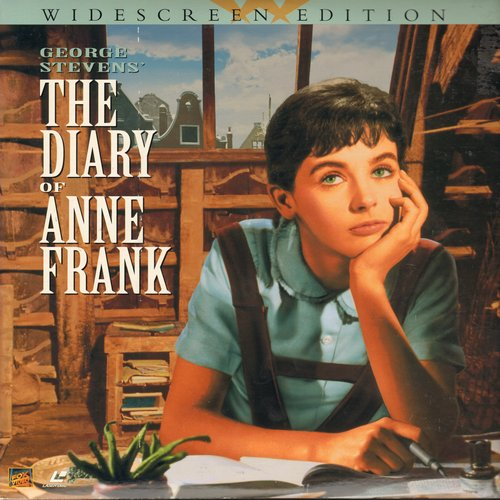 The Diary Of Anne Frank - The Diary Of Anne Frank - The Classic 1959 Drama on 2 LASER DISCS, gate-fold cover  (This is in LASER DISC FORMAT, not any other kind of media!) - NM9/EX8 - Laser Discs