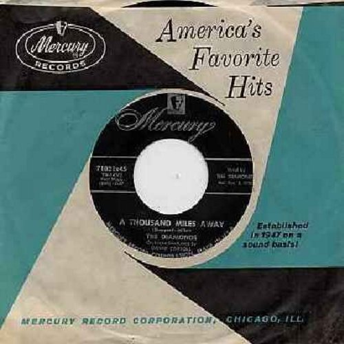 Diamonds - A Thousand Miles Away/Ev-ry Minute Of The Day (with Mercury company sleeve) - EX8/ - 45 rpm Records