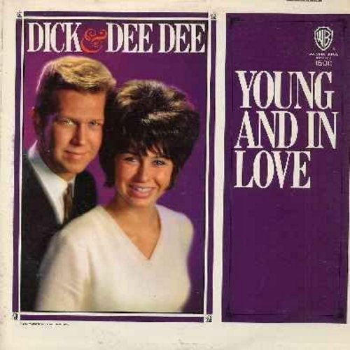 Dick & Dee Dee - Young And In Love: Bluebirds Over The Mountain, Love Is A Once In A Lifetime Thing, Don't Leave Me, Scarlet Ribbons, Guess Our Love Must Show (vinyl MONO LP record) - M10/EX8 - LP Records