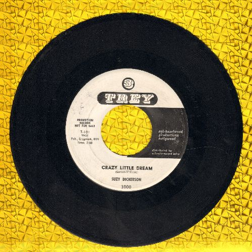 Dickerson, Suzy - Crazy Little Dream/Don't Tell Him I Want To Know (ULTRA-DREAMY Teen Idol 2-sider!) (DJ advance pressing) - EX8/ - 45 rpm Records