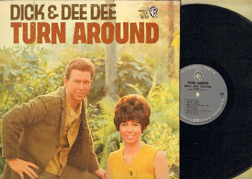 Dick & Dee Dee - Turn Around: Freight Train, The Riddle Song, 500 Miles, Gypsy Rover (vinyl MONO LP record) - NM9/EX8 - LP Records