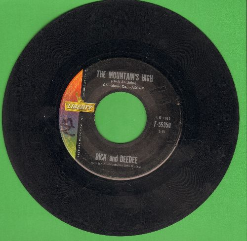 Dick & Dee Dee - The Mountain's High/I Want Someone (with juke box label) - VG7/ - 45 rpm Records
