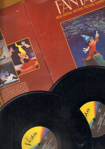 Disney - Fantasia - New Digital Motion Picture Soundtrack (2 vinyl STEREO LP record set, gate-fold cover, cover blemish) - VG7/G5 - LP Records