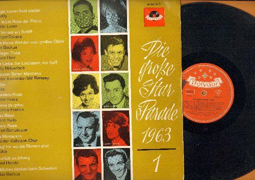 Freddy, Trude Herr, Connie Francis, Lolita, others - Die grosse Star Parade 1963/1: Junge komm bald wieder, Spiegel-Twist, Eso Beso, Sag mir wo die Blumen sind (vinyl LP record, German Pressing, sung in German) - NM9/EX8 - LP Records
